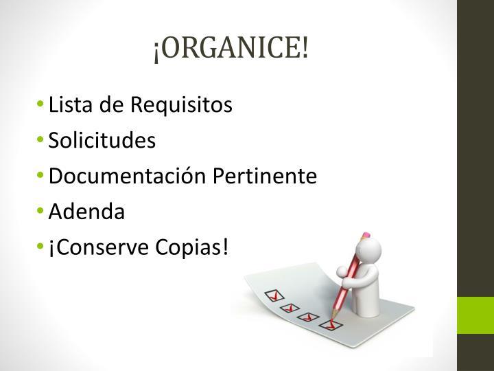 ¡ORGANICE!