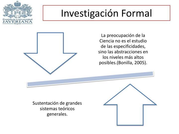 Investigación Formal