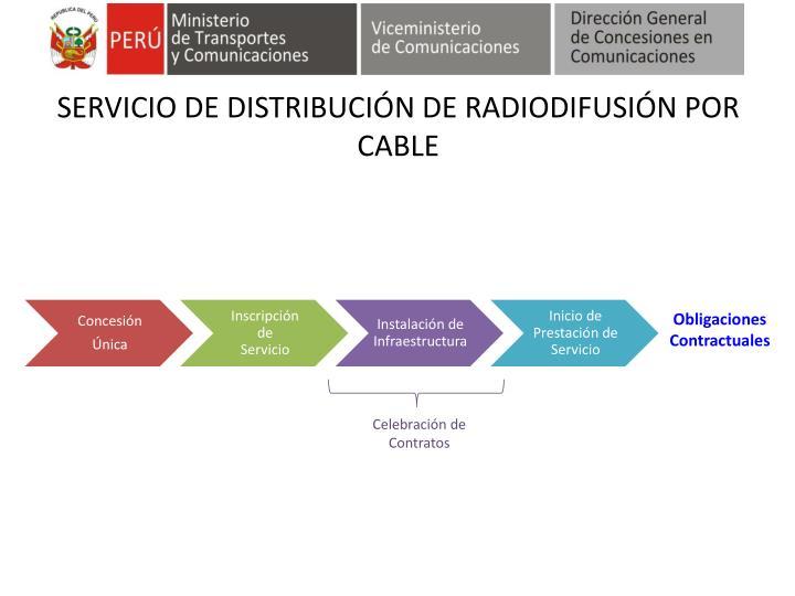 SERVICIO DE DISTRIBUCIÓN DE RADIODIFUSIÓN POR CABLE
