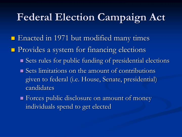Federal Election Campaign Act