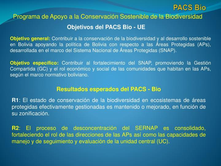 Objetivos del PACS