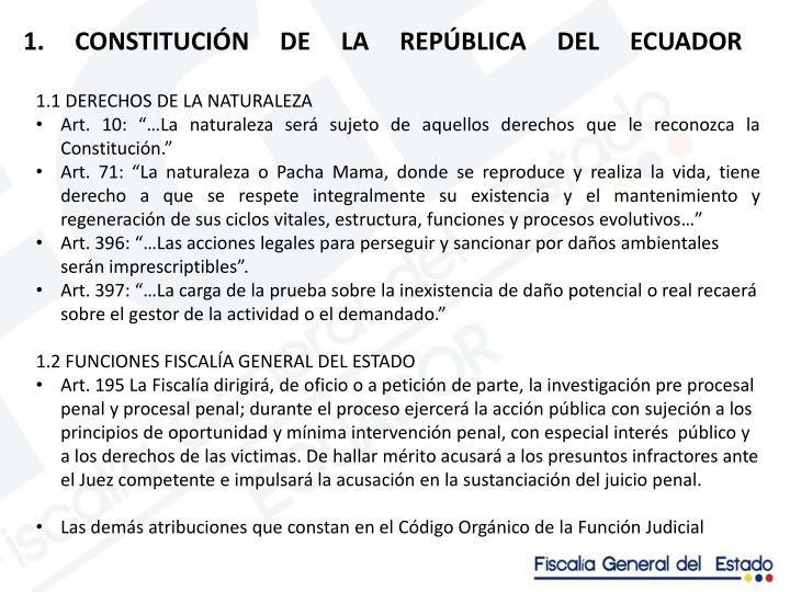 1. CONSTITUCIÓN DE LA REPÚBLICA DEL ECUADOR