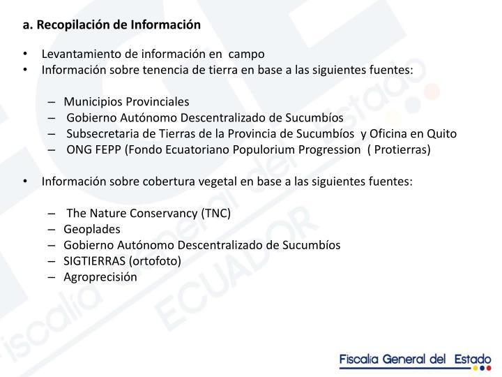 a. Recopilación de Información