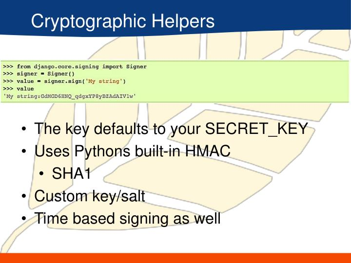 Cryptographic Helpers