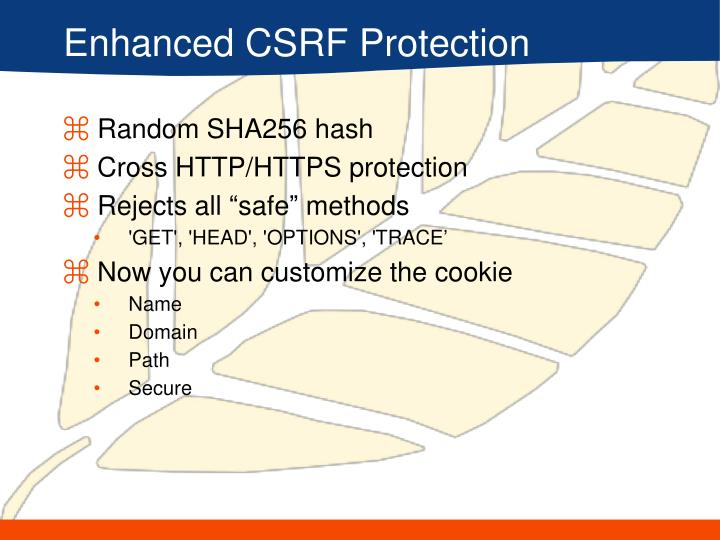 Enhanced CSRF Protection