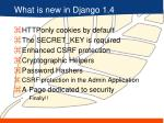 what is new in django 1 4