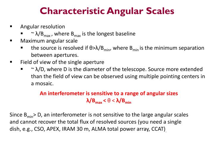 Characteristic Angular Scales