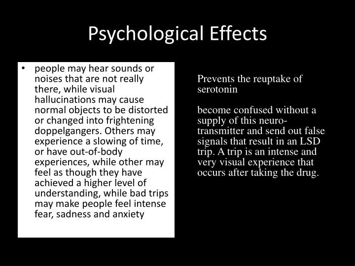 Psychological Effects