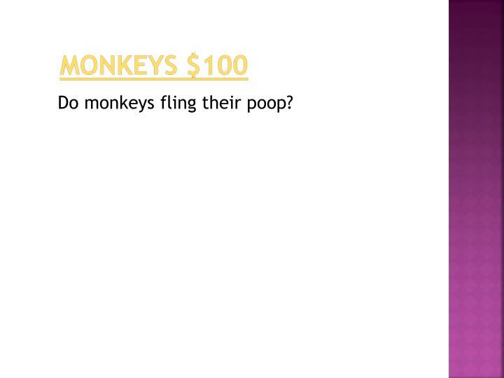 monkeys $100