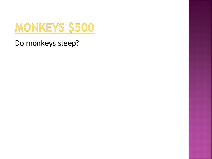 monkeys $500