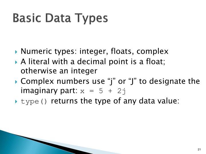 Basic Data Types