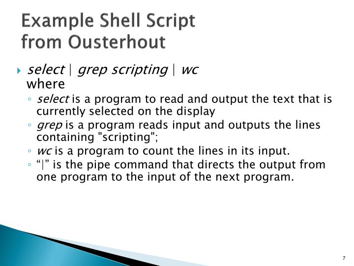 Example Shell Script