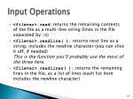input operations