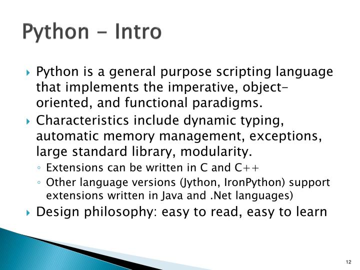 Python - Intro