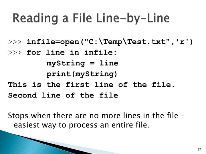 Reading a File Line-by-Line