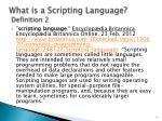what is a scripting language definition 2