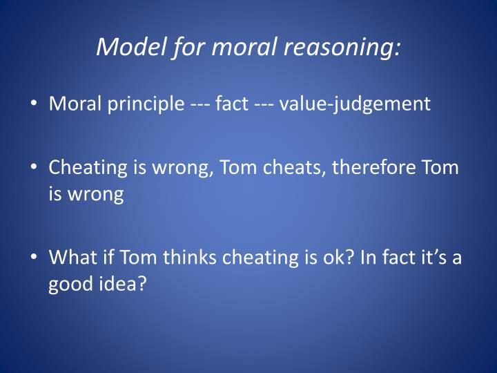 Model for moral reasoning: