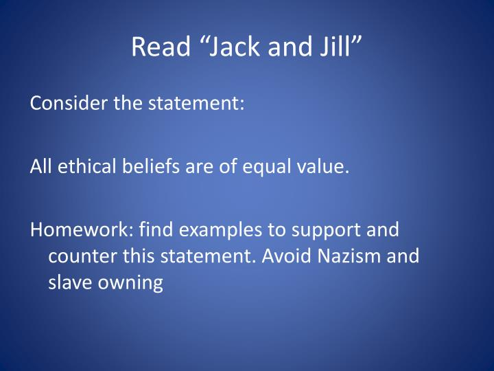 "Read ""Jack and Jill"""