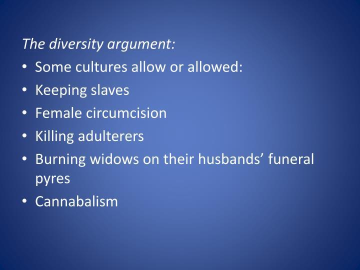 The diversity argument: