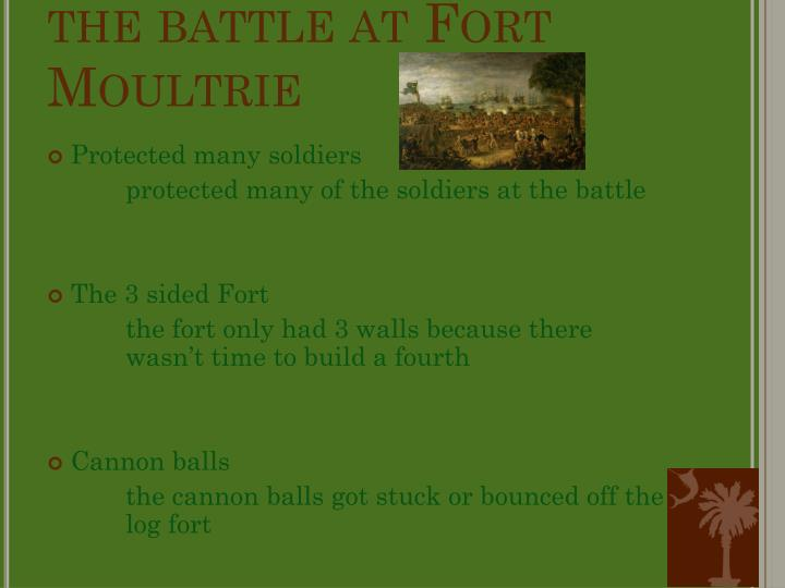 the battle at Fort Moultrie