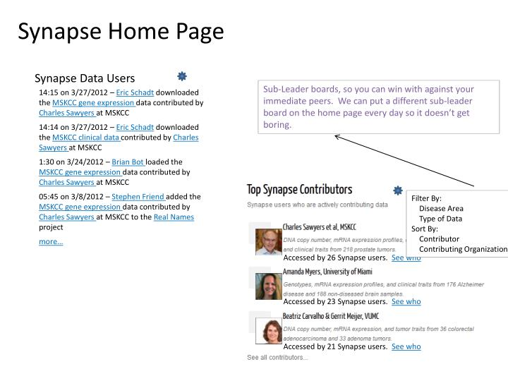 Synapse Home Page