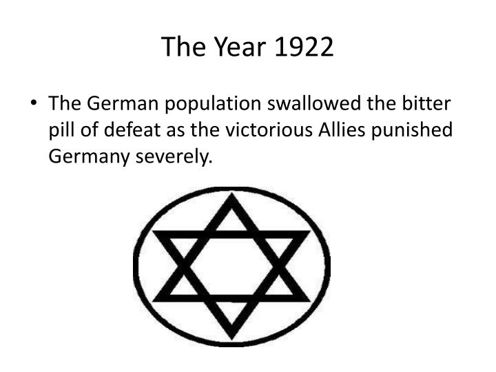 The year 1922