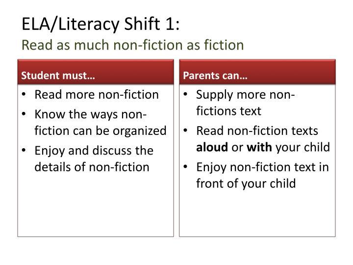 ELA/Literacy Shift 1: