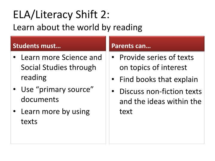 ELA/Literacy Shift 2: