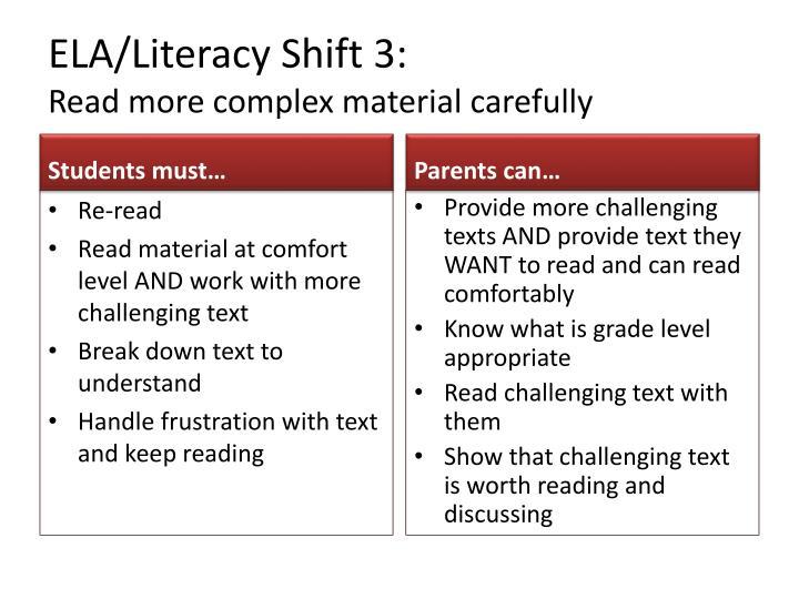 ELA/Literacy Shift 3: