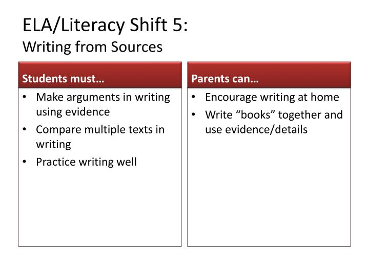 ELA/Literacy Shift 5: