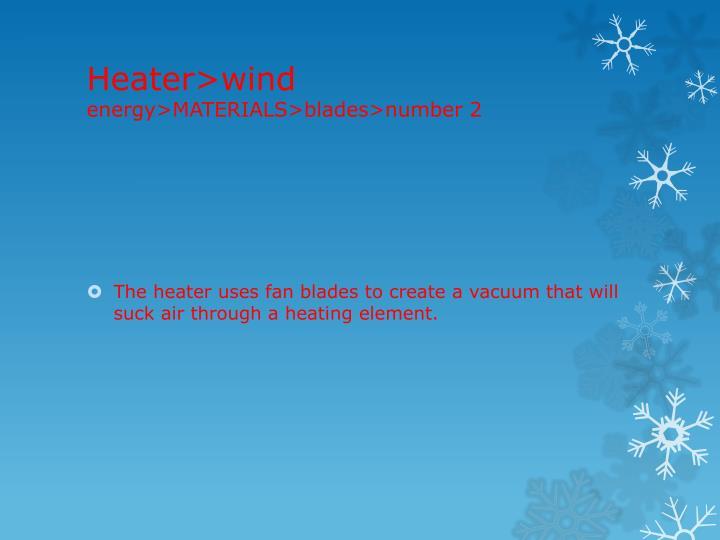 Heater>wind