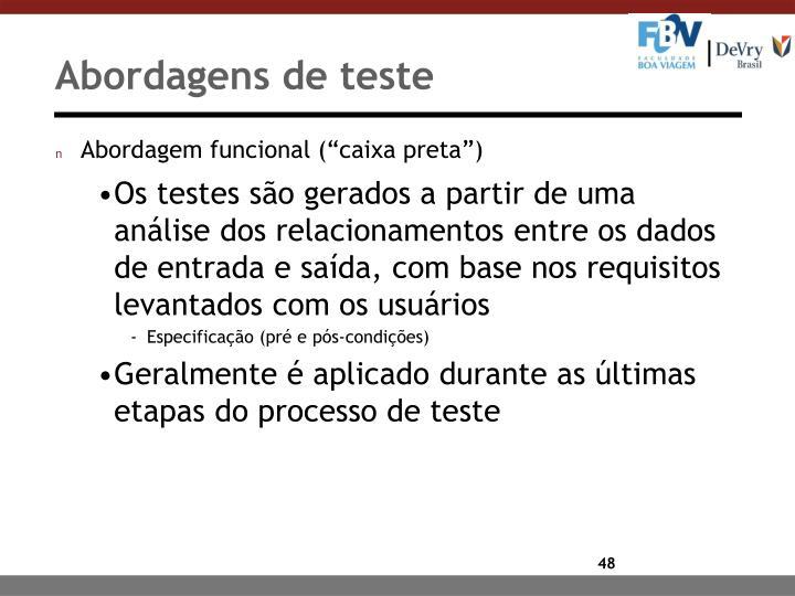 Abordagens de teste