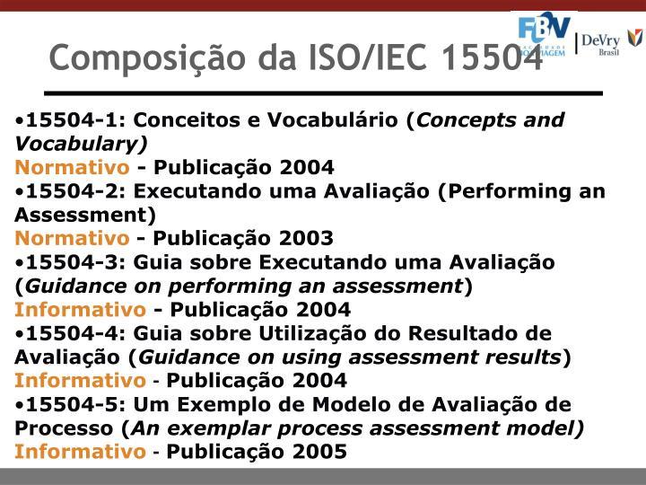 Composição da ISO/IEC 15504