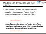 modelo de processo da iso 155041