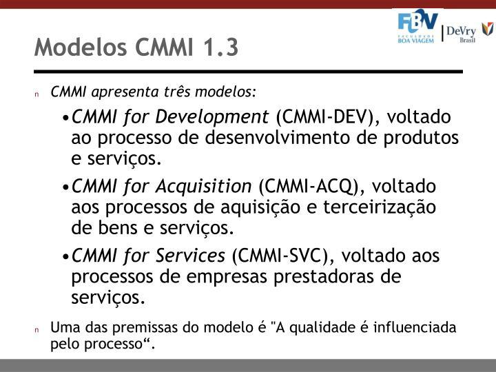 Modelos CMMI 1.3