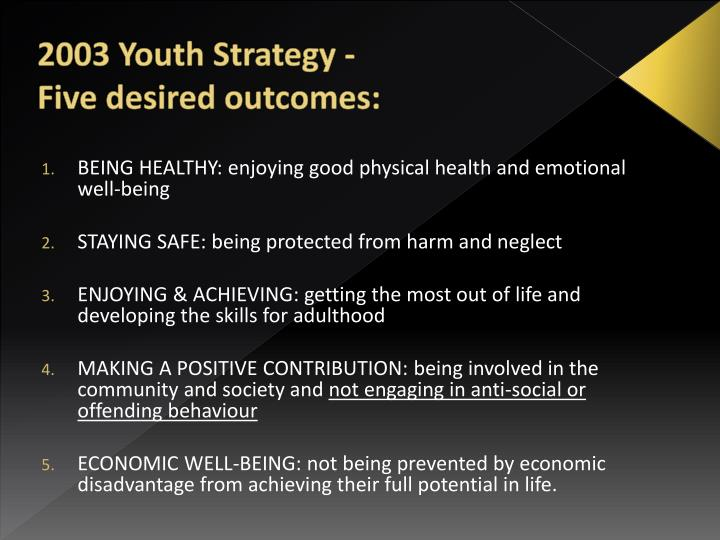 2003 Youth Strategy -