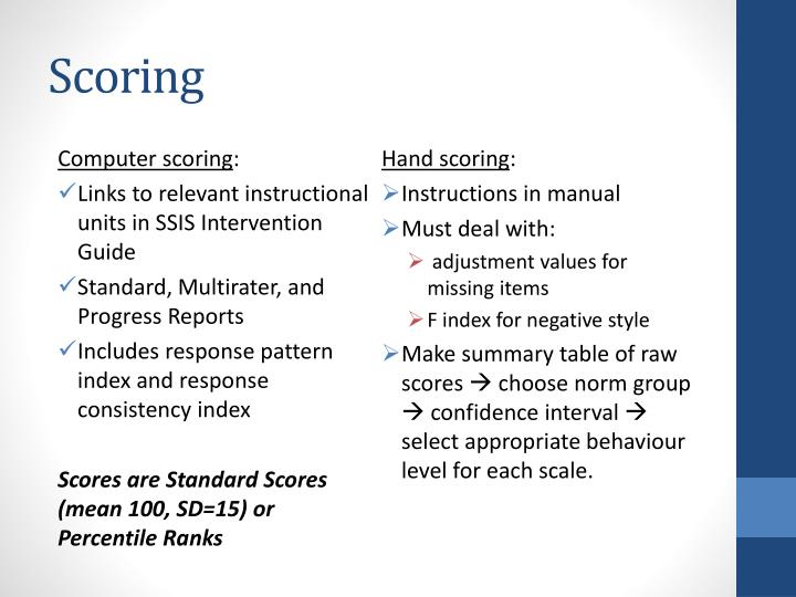 social skills improvement system rating scales Development of the contextual assessment of social skills  system, and performance was compared across contexts  rating scale, described below.