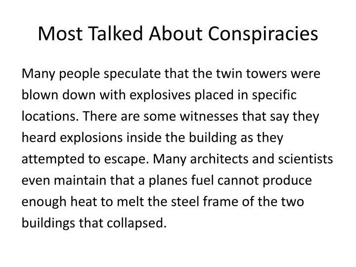 Most talked about conspiracies1