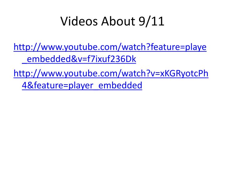 Videos About 9/11