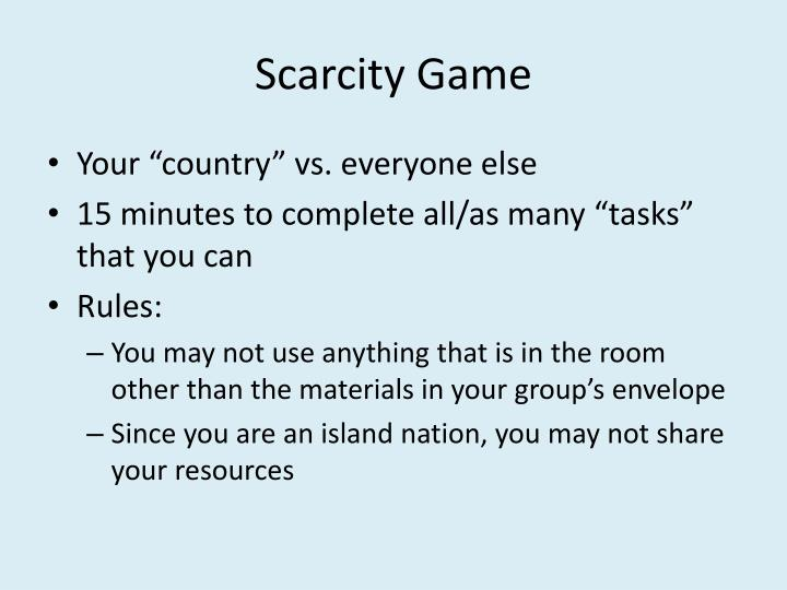 Scarcity Game