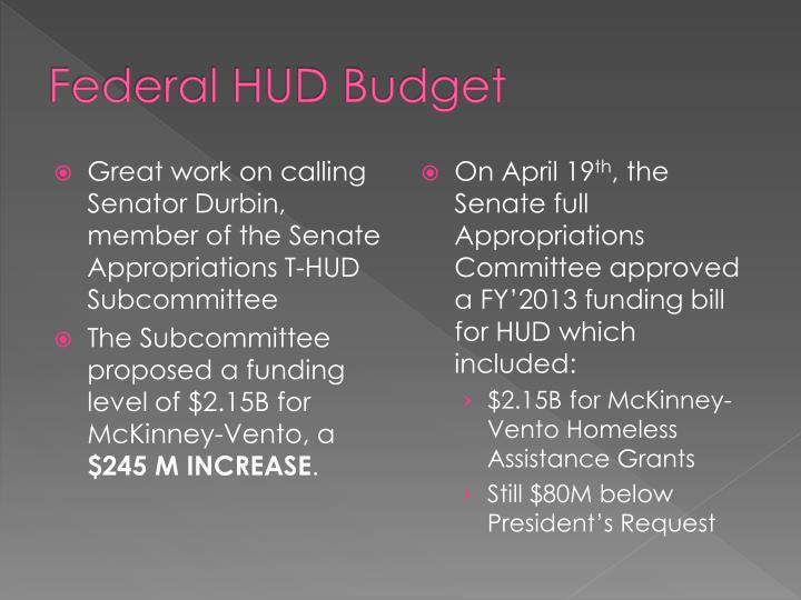 Federal HUD Budget
