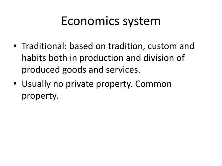 Economics system