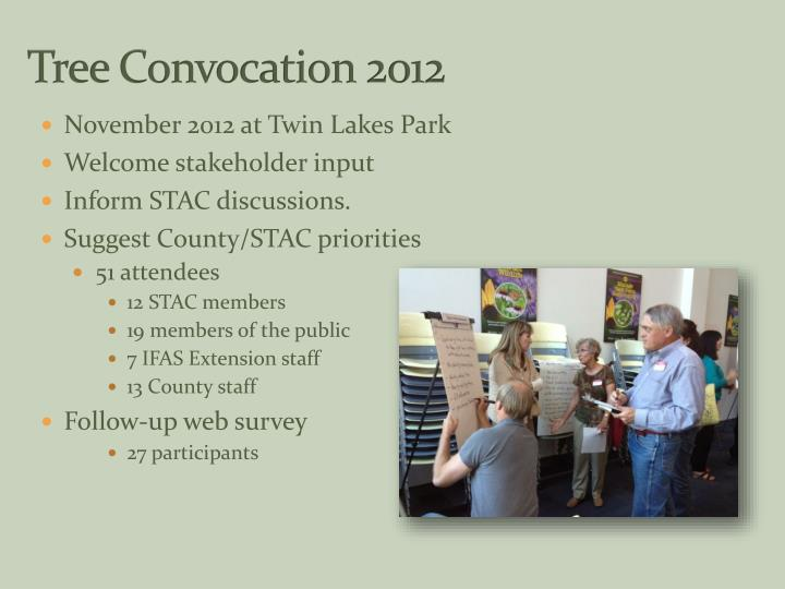 Tree Convocation 2012