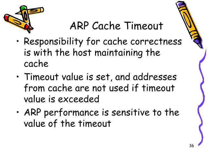 ARP Cache Timeout