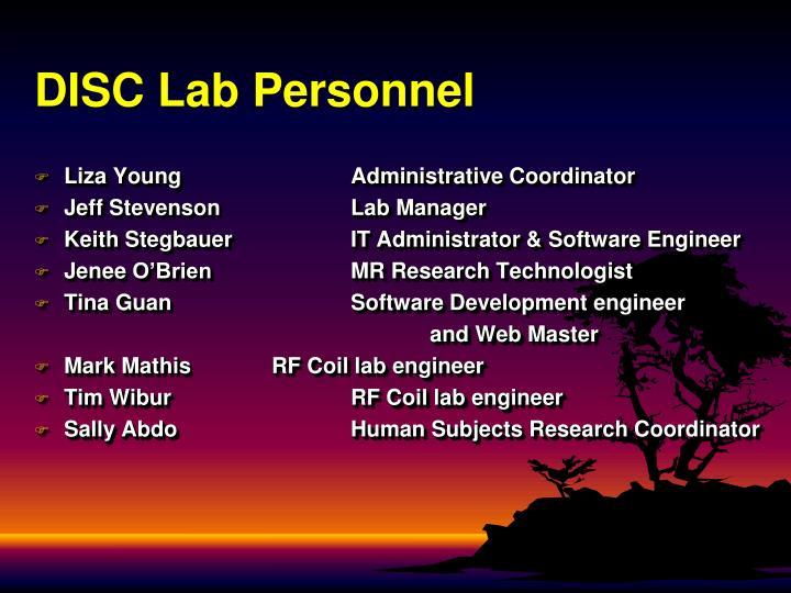 DISC Lab Personnel
