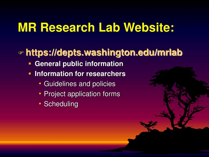 MR Research Lab Website: