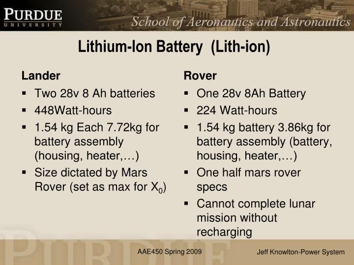 Lithium ion battery lith ion