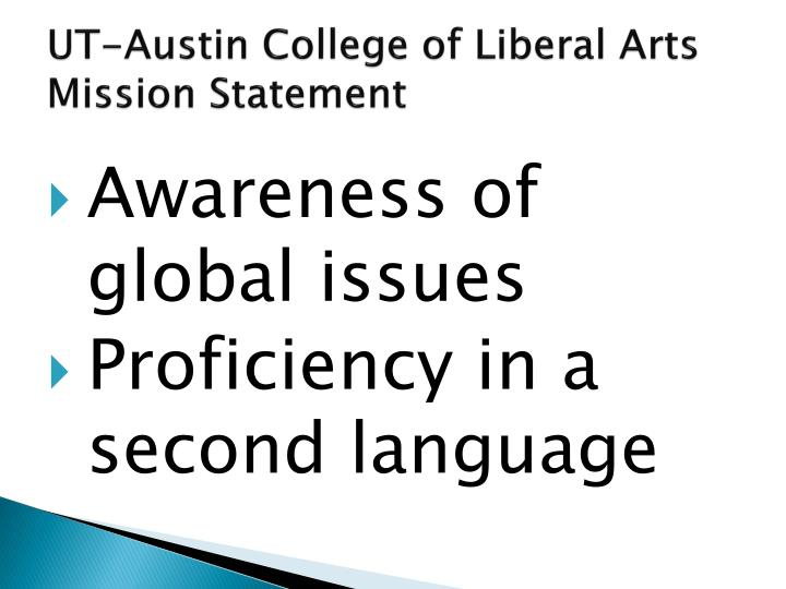 UT-Austin College of Liberal Arts Mission Statement