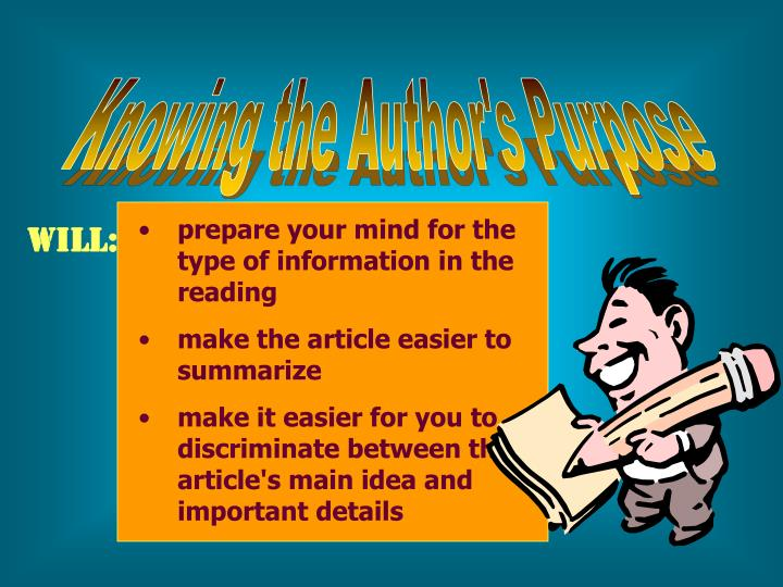 Knowing the Author's Purpose