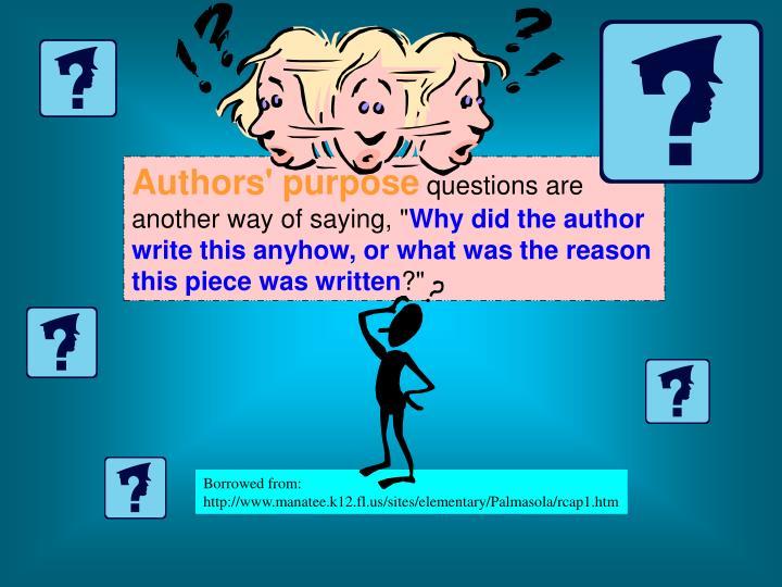 Authors' purpose